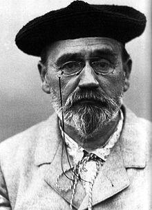 Émile Zola, autoportrait au béret, 1902