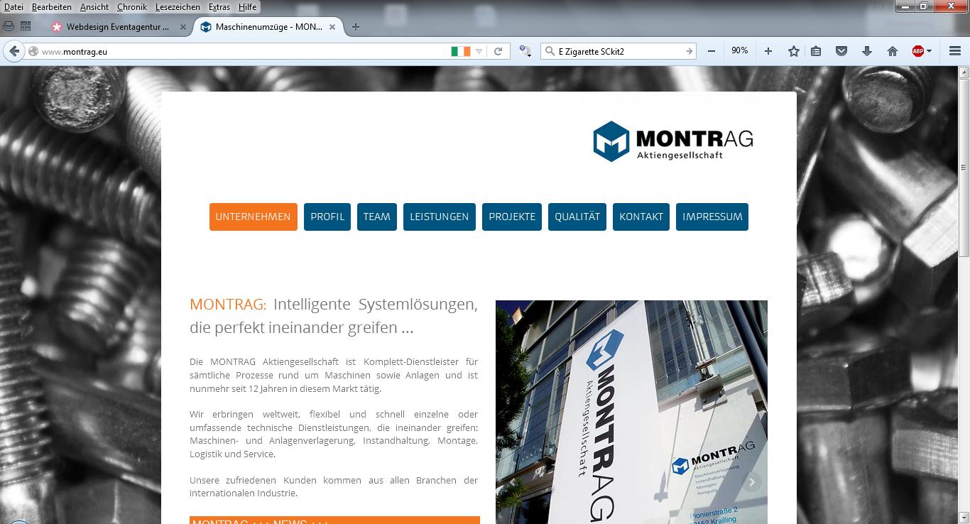 MONTRAG Aktiengesellschaft - Maschinen- und Anlagenverlagerung - Unternehmen