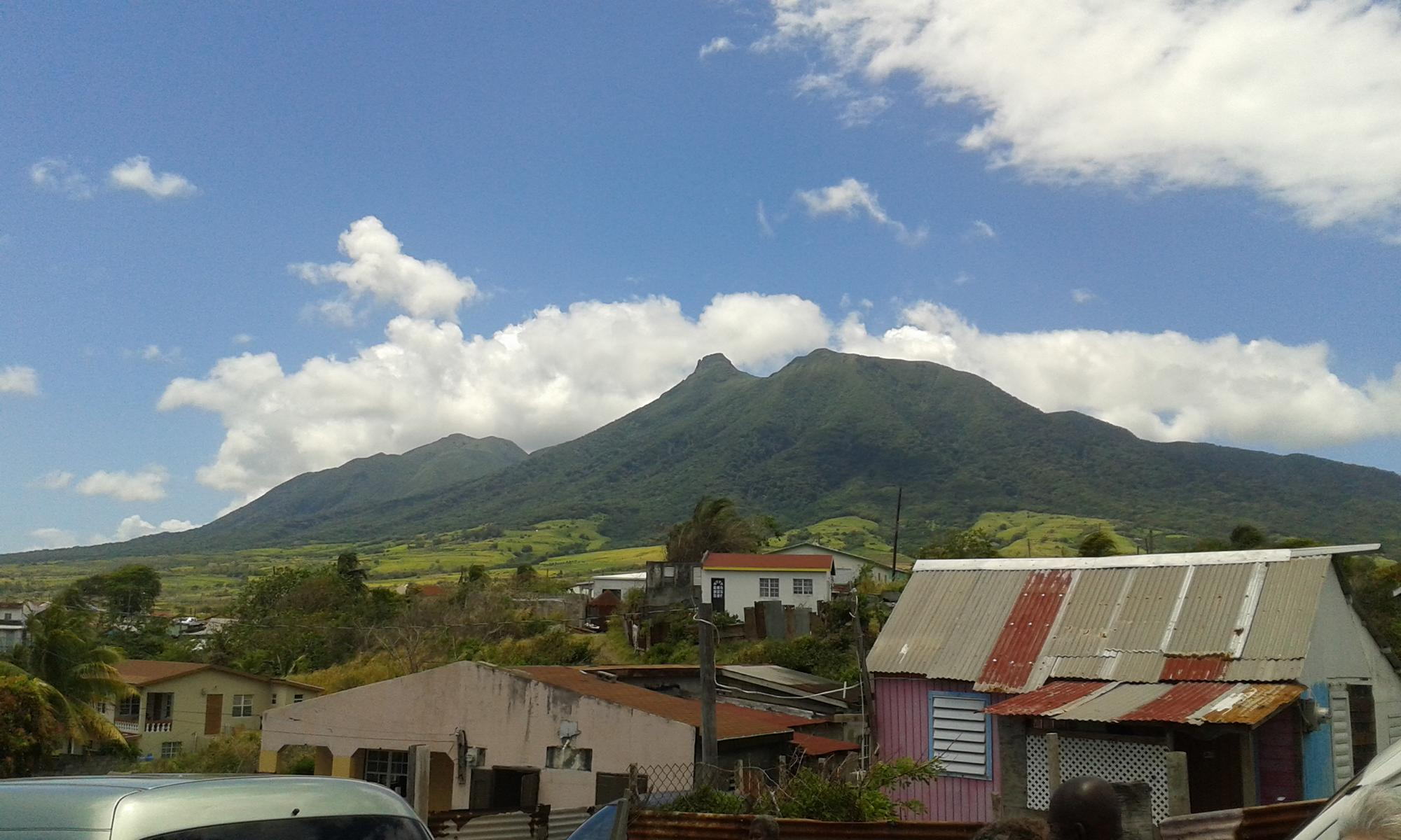 Blick zum Mount Liamuiga