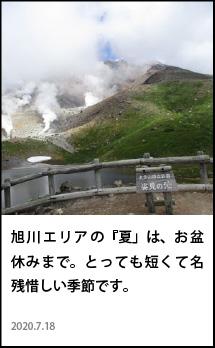 北海道 旭川 夏 季節