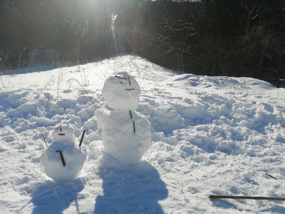 雪だるま発見!
