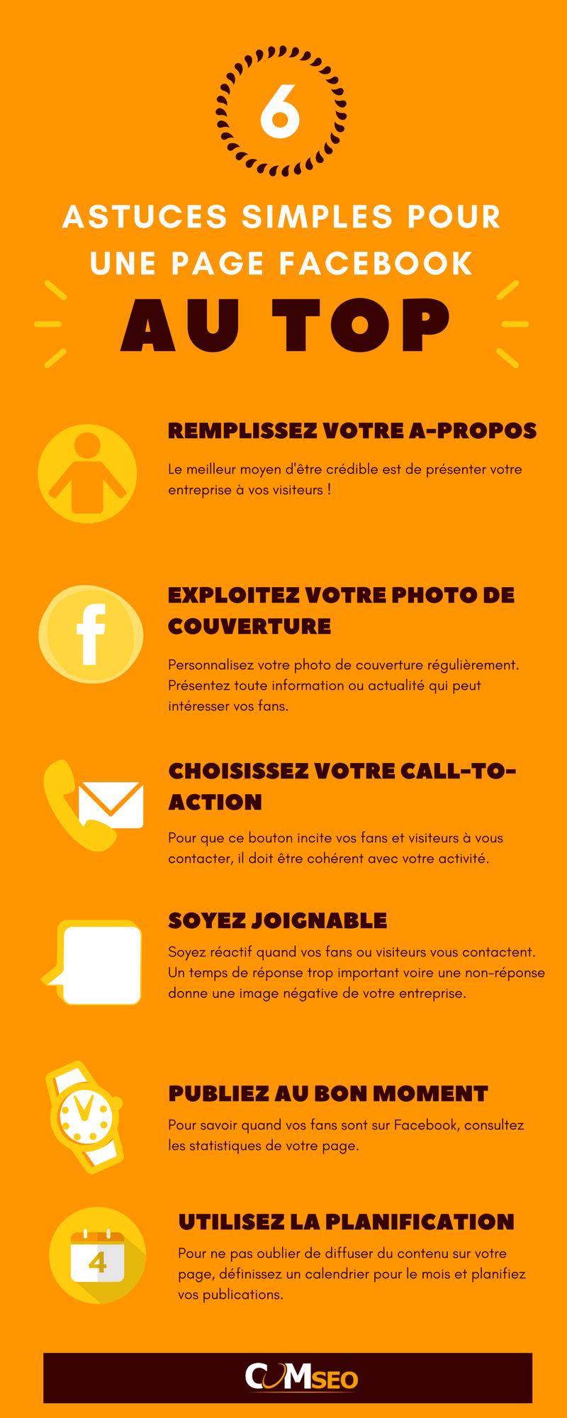 infographie Page facebook pro réussir