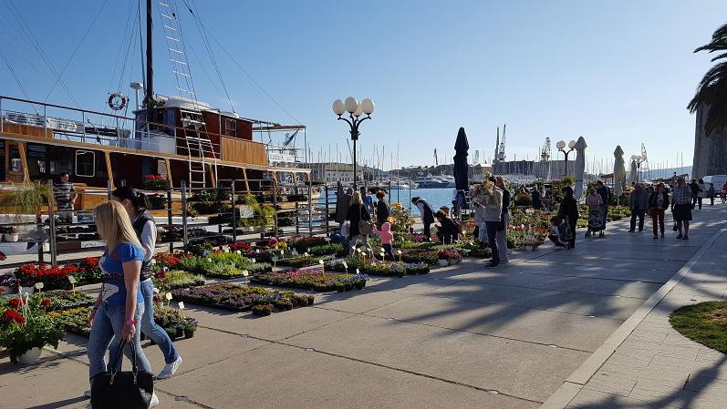 Markt in Trogir ...