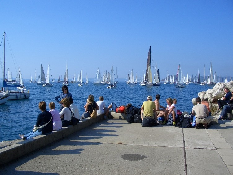 Regatta vor Split