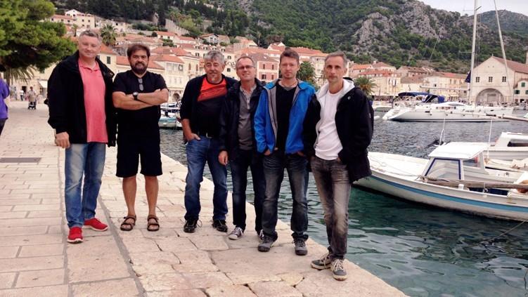 Die Crew in Hvar ...