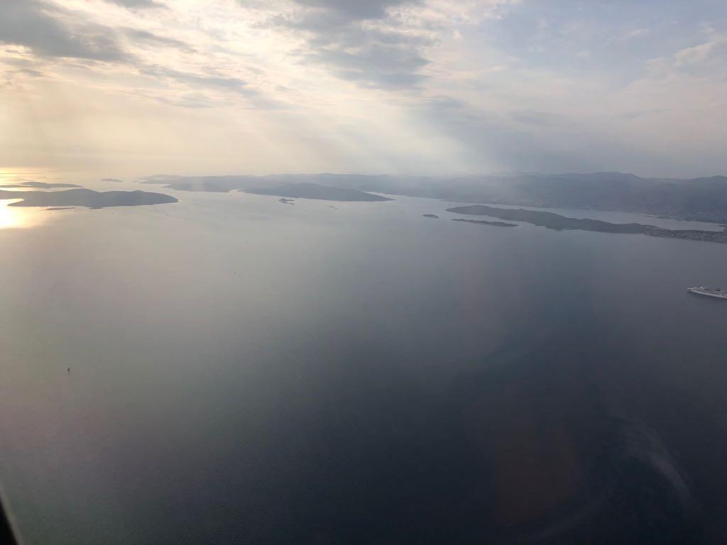 Im Anflug auf Trogir ...