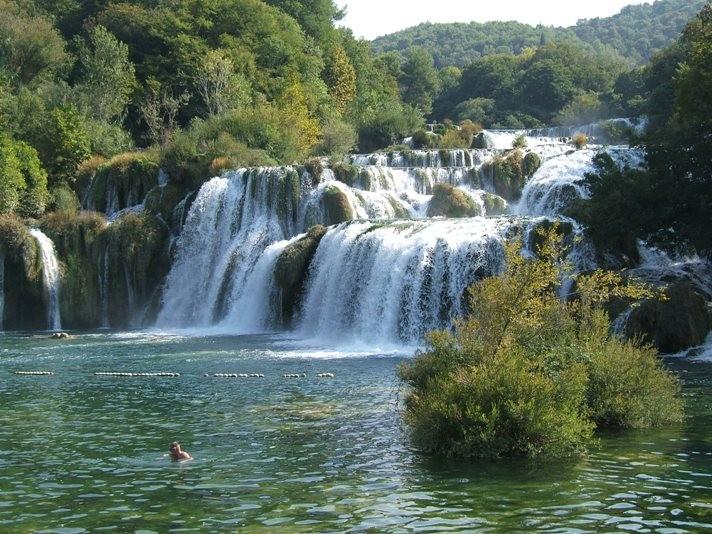 Die Krka Wasserfälle im Nationpark