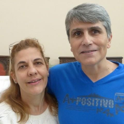 Claudia y Alfredo Becerra. Delegados zona NOA