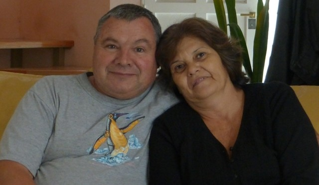 Lidia y Jorge Bruni. Delegados zona Comahue