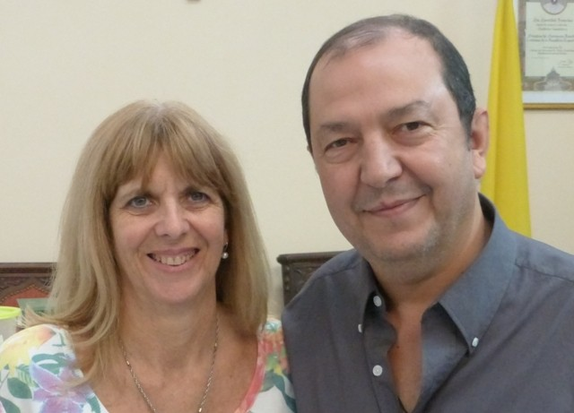 Adriana y Daniel Vedelago. Delegados zona Centro