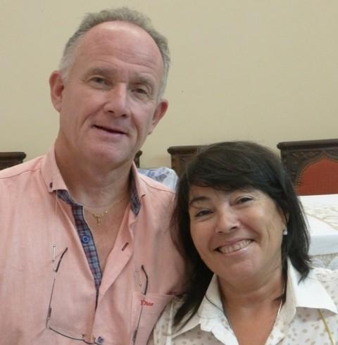 Laura y Roberto Guidetti. Secretarios y Tesoreros