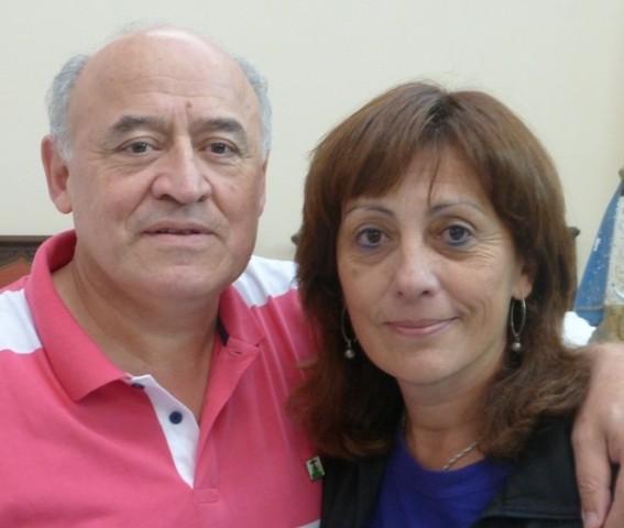 Isabel y Jorge Omar Huber. Vicepresidentes Nacionales