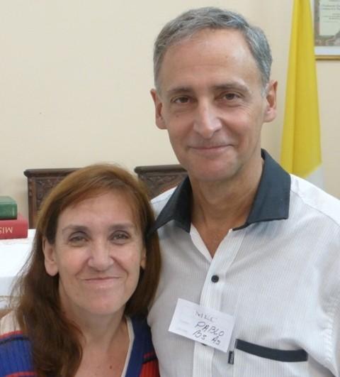 Marcela y Pablo Cavallero. Delegados zona Buenos Aires