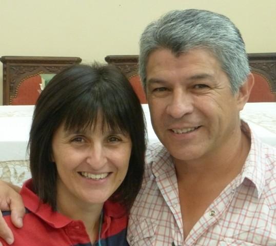 Patricia y Marcelo Rojas. Delegados zona Litoral