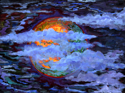 Dragon Moon, SOLD,  prints available