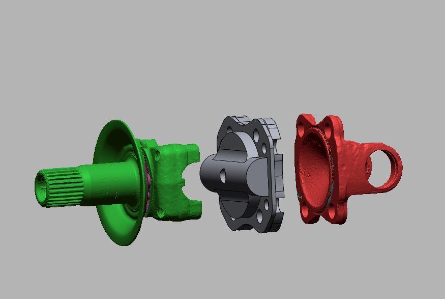3D model koppelstuk