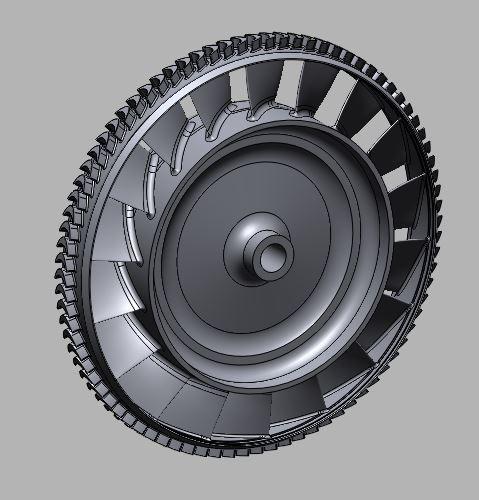 3D model 18 blades