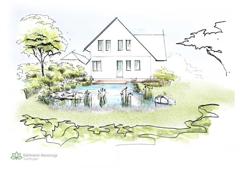 Sorgfältig geplant - so könnte Ihr Garten später aussehen