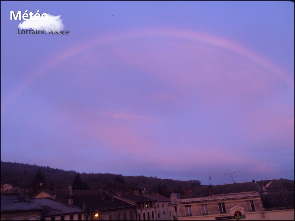 Photo prise à Pont Saint Vincent (54) Vendredi 4 Mars (Joli Arc-en-ciel)