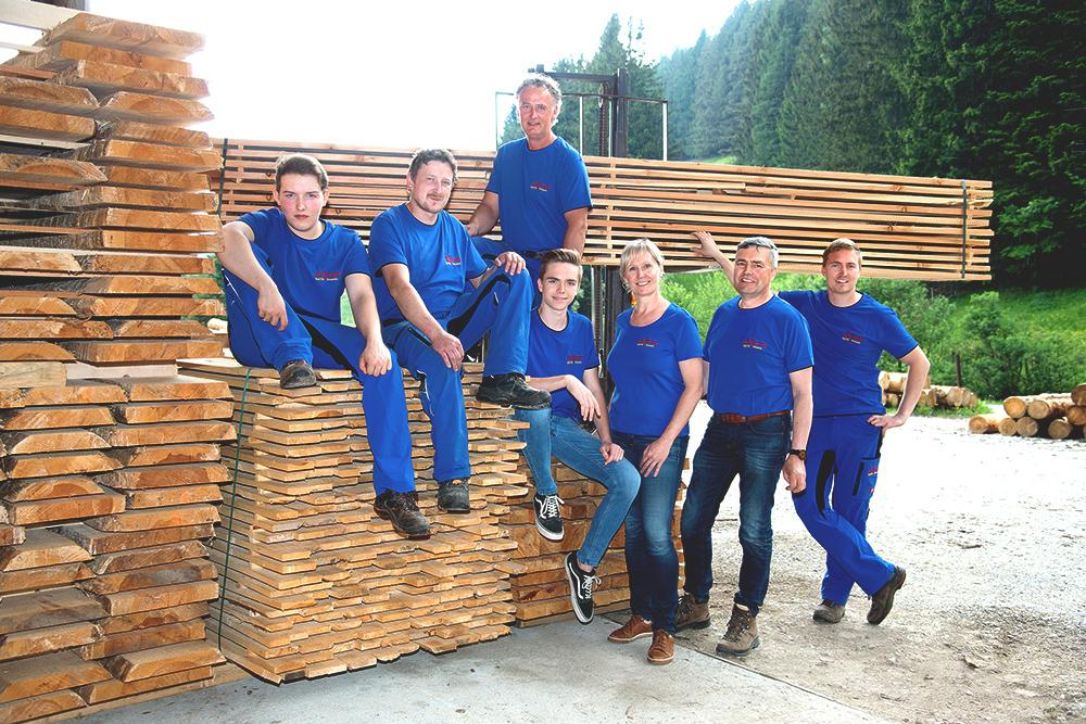 Das Team vom Sägewerk