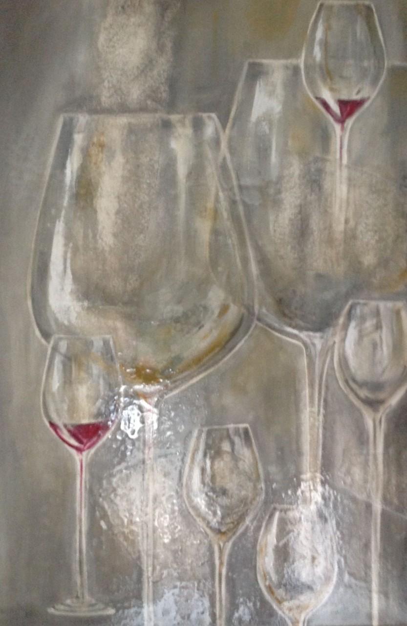 939 >> tableaux verres et transparences - isabelle perriquet artiste peintre