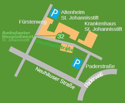Lageplan Ambulanter Hospizdienst St. Johannisstift e. V.