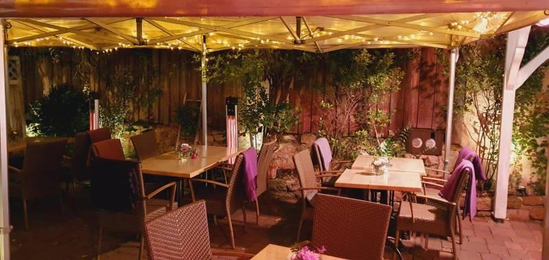 Toskanisches Gartenrestaurant in Heppenheim