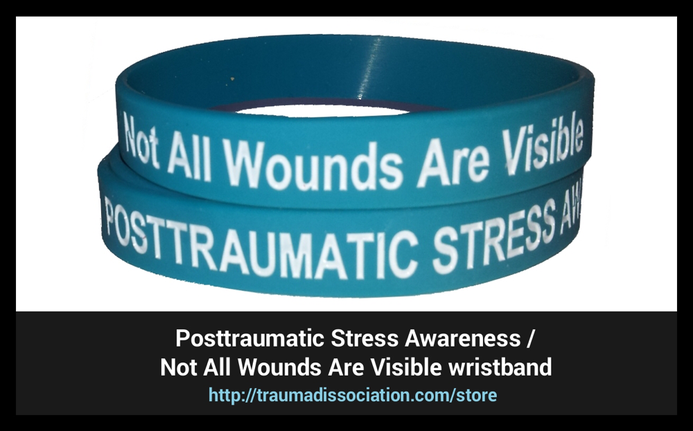 Posttraumatic Stress Awareness / Not All Wounds Are Visible wristbands