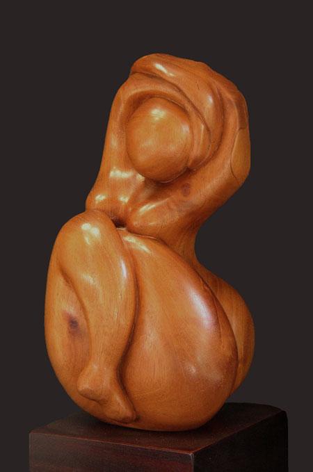 BAIGNEUSE DE BANYULS - Sculpture bois - non dispo.