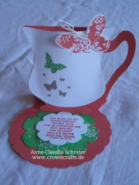 Diese Karte kann man aufstellen - und die Tasse ist mit einem Teebeutel gefüllt! Ich weiß nur leider nicht mehr, von wem sie ist!