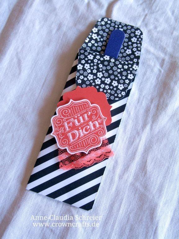 Eine hübsche Verpackung mit Nagelfeile von Angelika Neefe - http://www.stampinup.net/esuite/home/stempelgeli/