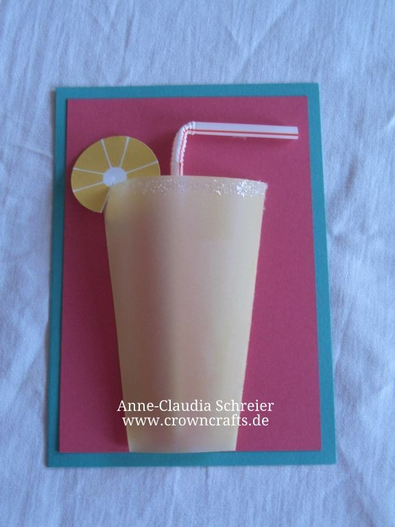 Diese Limo-Becher Karte fand ich auch ganz witzig. Prima Einladung für einen Cocktail-Abend! ;-) Idee von Marie-Angelique Buchrigler aus Österreich