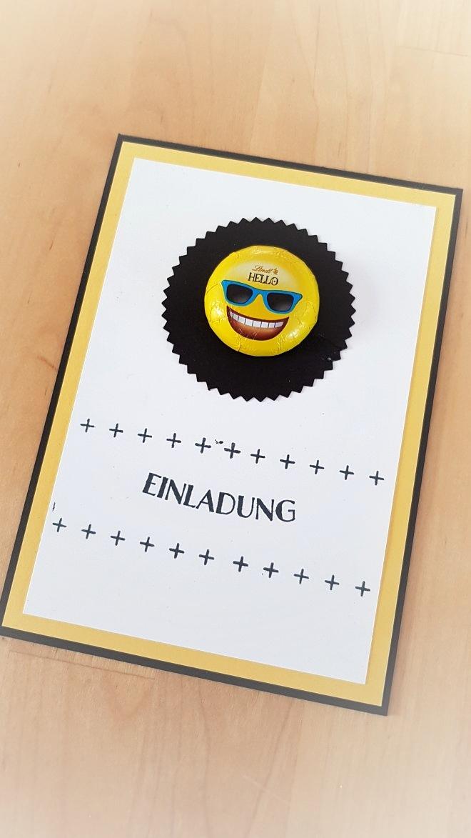 Fertig! Irgendetwas sagt mir, dass der Lindt-Emoji da nicht lange kleben wird...