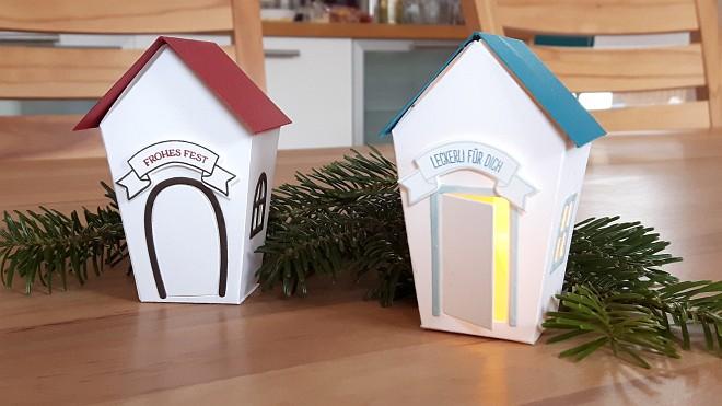 Das zweite Projekt: Kleine Häuschen - mal mit, mal ohne Beleuchtung!