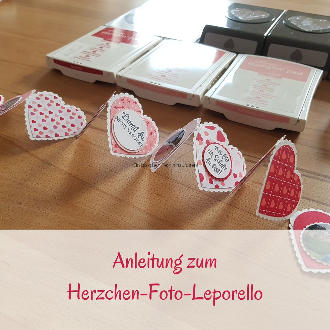 Anleitung herzige Foto-Leporello-Girlande