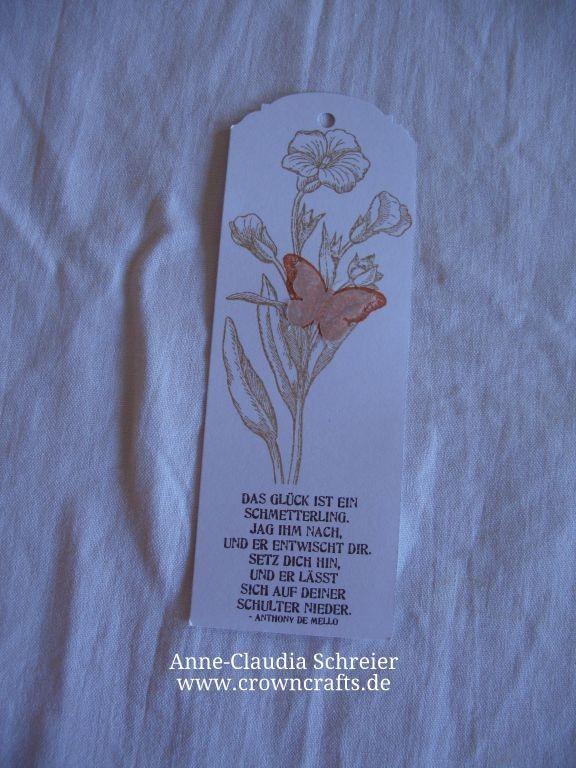 Ein Lesezeichen von Annette Wolf - www.kreativ-wolf.de