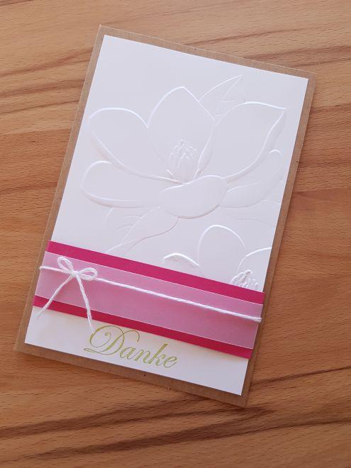 Magnolienkarte in Pink