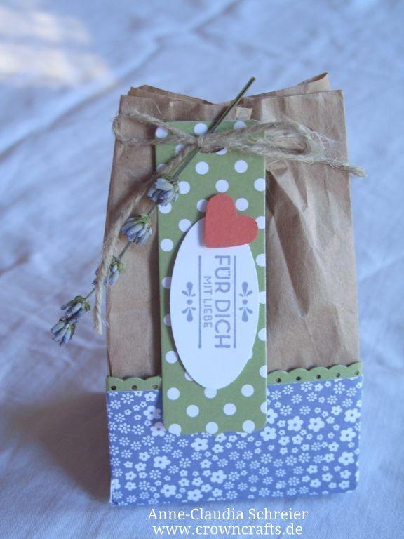 Sieht das Tütchen nicht wunderschön aus? Es enthält eine selbstgemachte Seife und ist von der lieben Stephanie Krasky - www.einfach-selbstgemacht.de - ach, hab ich nicht ein nettes Team? ;-)