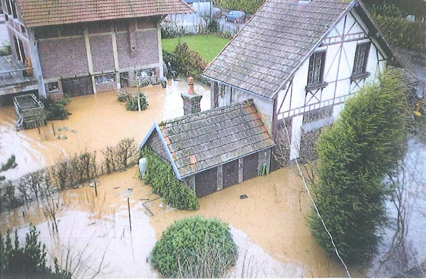 Crue de la Scie à St Aubin sur Scie - 1999