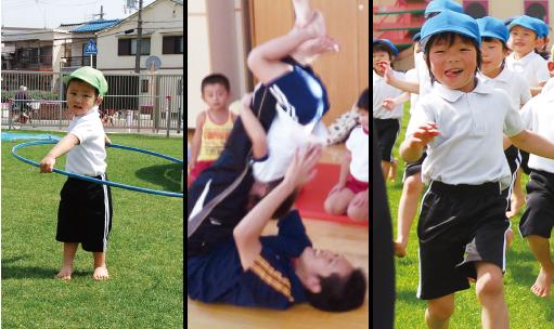 試験の様子運動遊び実践保育士