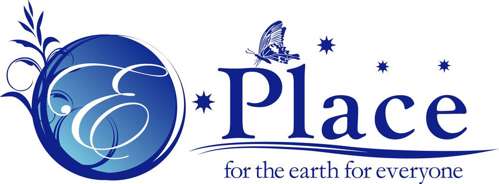 地球のブルーをイメージしたロゴ
