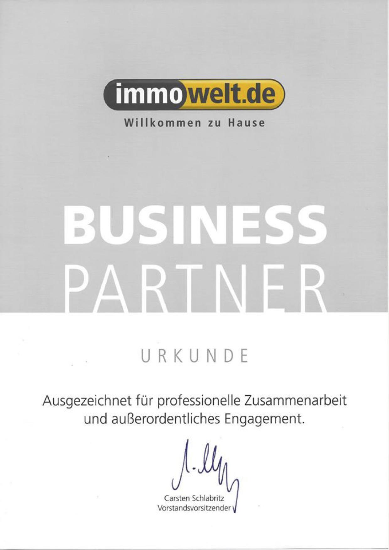 MYLLEK IMMOBILIEN URKUNDE Business Partner