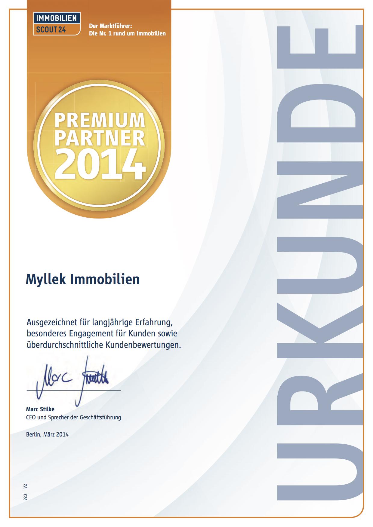 MYLLEK IMMOBILIEN  Premium Partner 2014