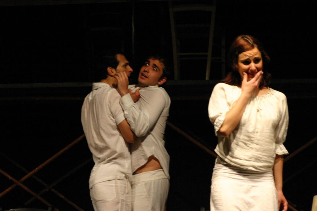 """Maggio 2007 - Teatro del Parco Tiburtino """"El Abanico""""(""""Il Ventaglio"""") :Gianfranco Fuggetta, Andrea Ricciardi, Ilenia Cerioni"""