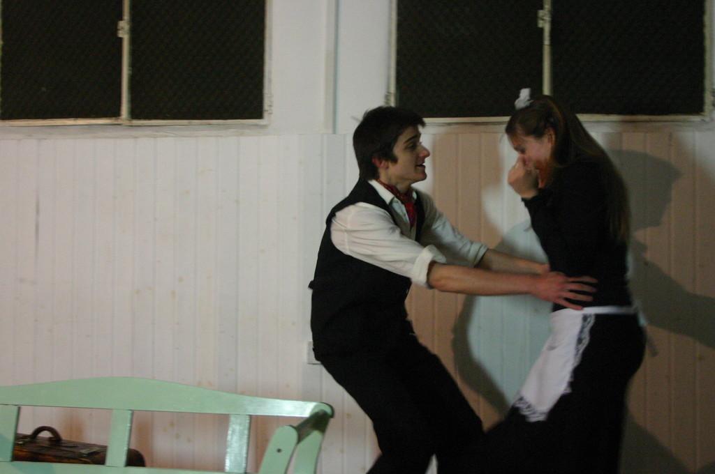 """Maggio 2009 - Backstage """"IL GIARDINO DEI CILIEGI"""" nella Sala Prove di Ciak'84 : Aliosha Massine ed Elena Cascelli"""
