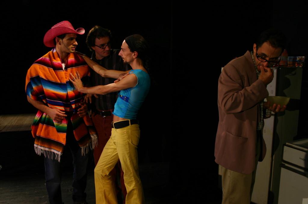 "Ottobre 2006 - ""My Fair Boy"" al Teatro del Parco Tiburtino: Gianfranco Fuggetta,Luca Milesi, Gianni Licata, Luca Marengo"