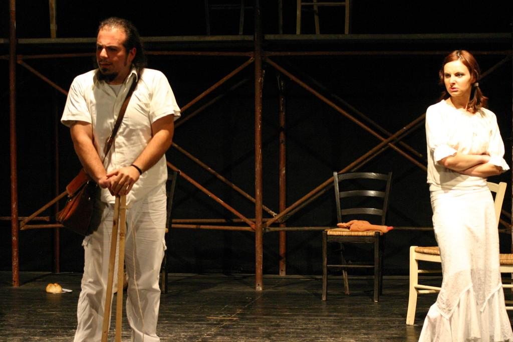 """Maggio 2007 - Teatro del Parco Tiburtino """"El Abanico""""(""""Il Ventaglio"""") :Luca Palminteri e Ilenia Cerioni"""