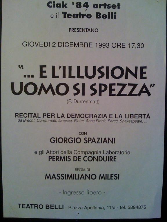 Spettacolo al Teatro Belli, la nostra partecipazione all'acceso dibattito sullo scontro Rutelli-Fini