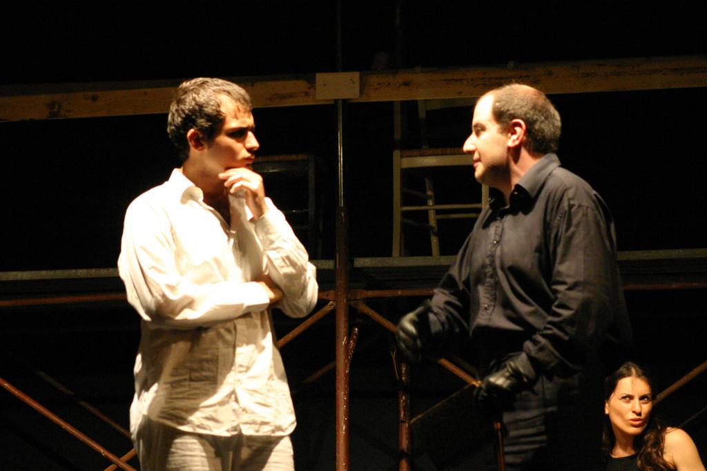 """Maggio 2007 - Teatro del Parco Tiburtino """"El Abanico""""(""""Il Ventaglio"""") : Andrea Ricciardi e Stefano Capecchi"""