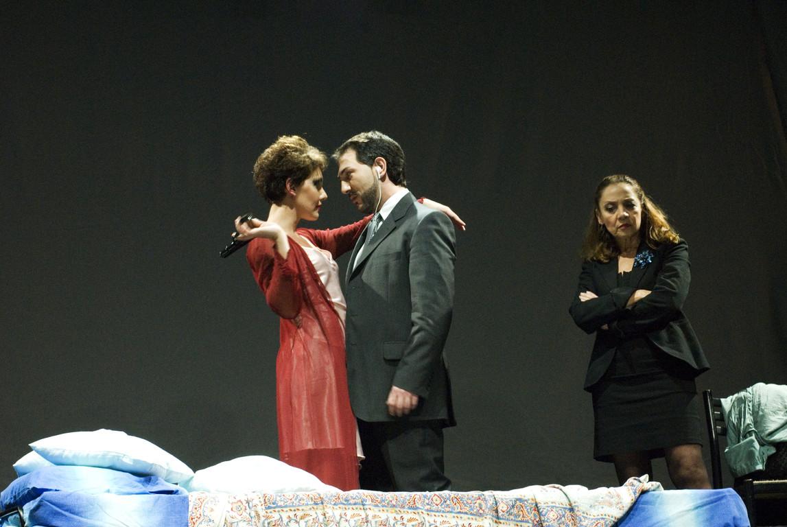 """Ottobre 2007 - """"Freddo Come la Notte"""" al Teatro del Parco Tiburtino: Manuela Di Salvia, Stefano Dedalo, Carla Aversa"""